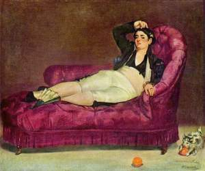 chaise lounge painting