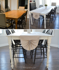 Chalk-Painted-Shabby-Chic-Kitchen-Table