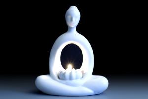 white zen monk